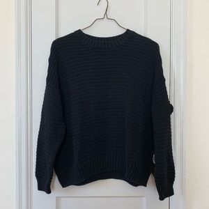 Women's Divided Pullover Ribbed Sweater